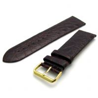 Apollo Fine Crocodile Grain Watch Strap Brown 24mm